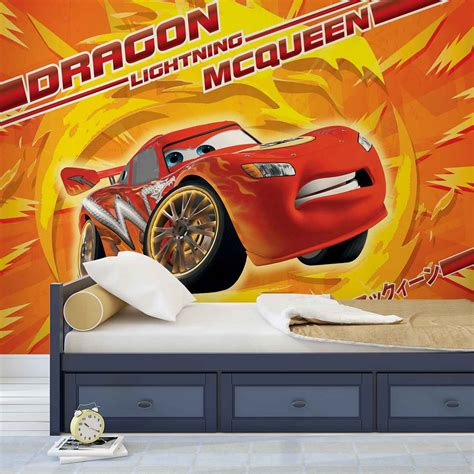 disney cars wall mural disney cars lightning mcqueen wall mural photo wallpaper 815dk ebay