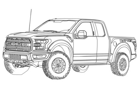 2017 Ford F 150 Raptor Coloring Page Free Printable Coloring Pages Ford Raptor Template