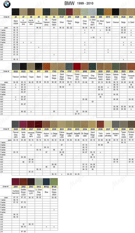 bmw interior color code lcad