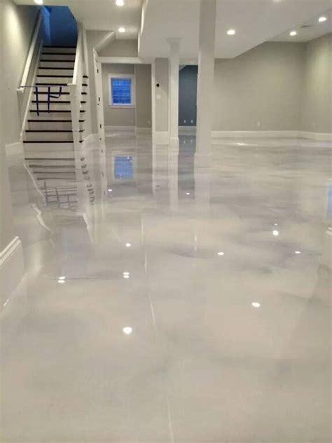 Pearl White Epoxy (Concrete) Floor   Renovation