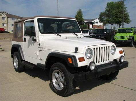 Automatic Jeep Soft Top Sell Used 1999 Jeep Wrangler Sport 4 Cylinder Automatic