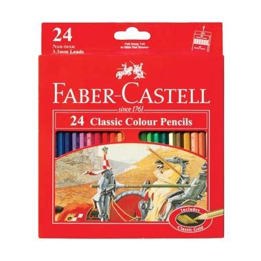 Pensil Warna Faber Castell Classic 24 jual daily deals faber castell classic colour pencils pensil warna 24 colour