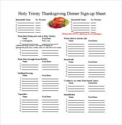 thanksgiving potluck signup sheet template sign up sheet template 20 free documents in