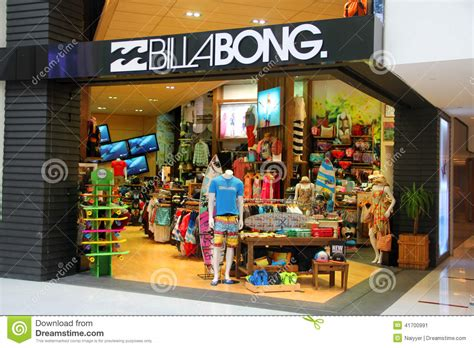 billabong retail outlet editorial photo image of design