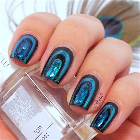 nail art checkered tutorial peacock nail art design tutorial alldaychic