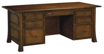 Real Wood Office Desk Amish Executive Computer File Desk Solid Wood Home Office Furniture Drawers Ebay
