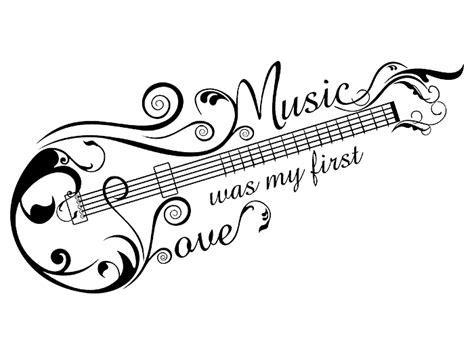 music tattoo png wandtattoo music love mit gitarren ornament bei homesticker de
