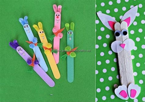 craft stick projects for preschoolers rabbit popsicle stick crafts preschool crafts