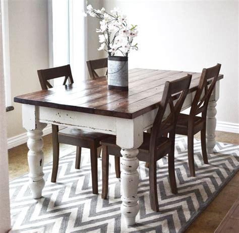 White Farmhouse Kitchen Table White Husky Farmhouse Table Diy Projects