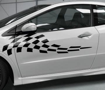 Autoaufkleber Fiat 500 by Autoaufkleber Rennflagge Aufkleber Zielflagge Fiat 500