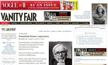 Vanity Fair Dominick Dunne by אנה וינטור קוונטין טרנטינו שיתוף קבצים ועוד עניינים העין השביעית