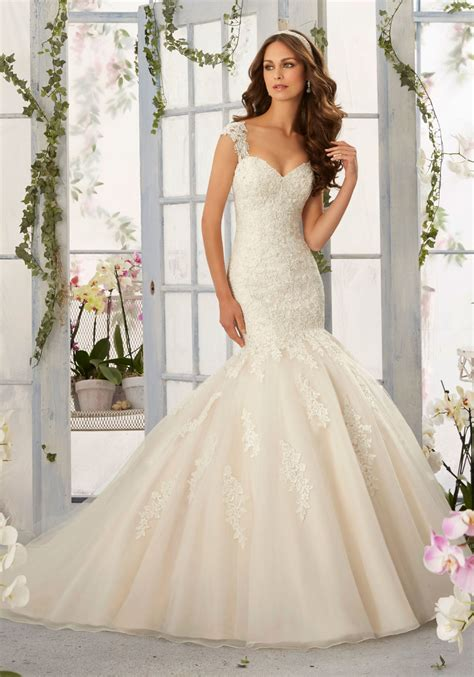 mermaid wedding dress with beading gorgeous frosted beading onto tulle mermaid morilee bridal