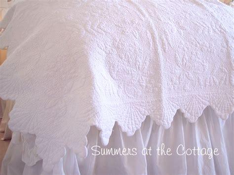 seashell matelasse coverlet white seashell matelasse beach cottage chic quilt set