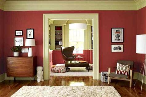 perpaduan warna cat rumah bagian  merah hati desain