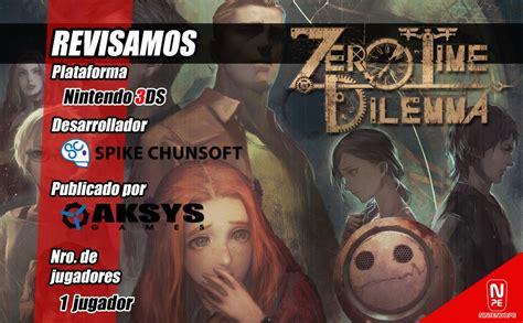 Nintendo 3ds Zero Time Dilemma zero time dilemma 3ds an 225 lisis