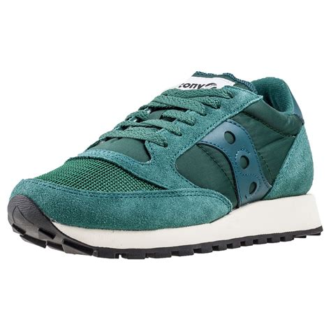 saucony jazz original vintage baltic womens trainers  green