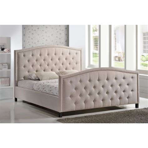 upholstered bed king luxeo camden palazzo mist king upholstered bed lux k6379