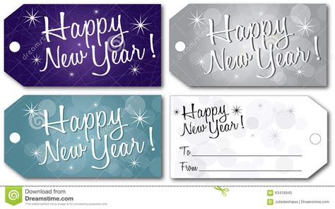 happy new year tags happy new year gift tag vector stock vector image 63416945