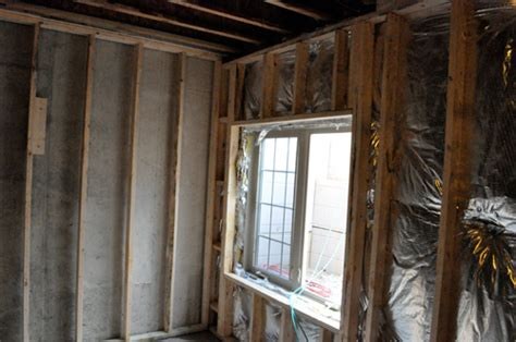 basement window header basement remodel day 1 framing one project closer