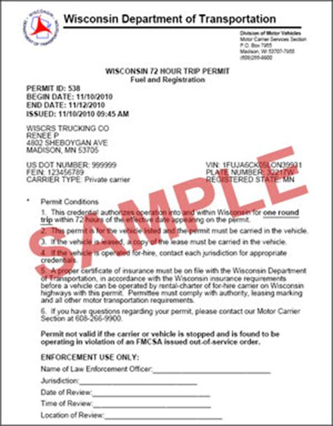 Topi Trucker Form Is Temporary 1 wisconsin dmv official government site 72 hour trip permit