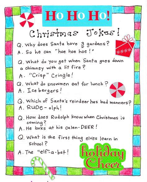 printable holiday jokes merry christmas christmas jokes holidays and xmas