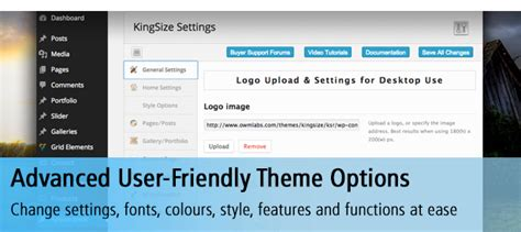 wordpress theme kingsize free king size fullscreen background wordpress theme