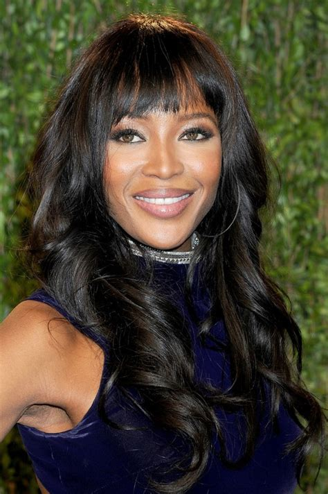naomi cbell hairstyle bangs pictures curly hairstyles with bangs african american short curly