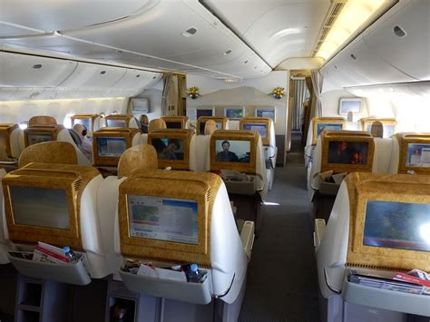 business class cabin emirates emirates b777 200lr business class brussels to dubai the