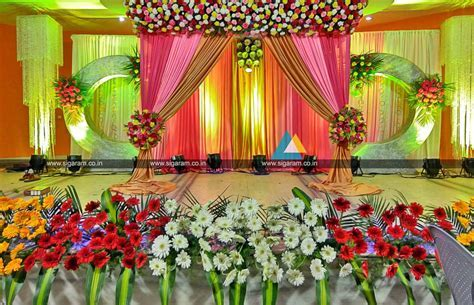 Valaikappu Stage Decoration at Jayaram Hotel, Pondicherry