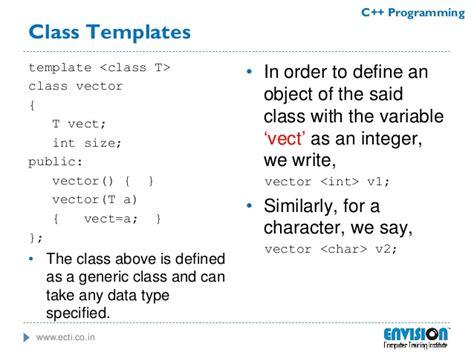 C Programming C Template Class