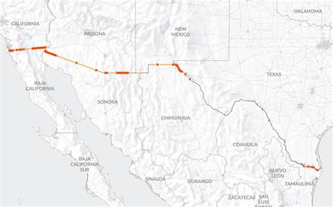 us mexico border wall map the wall building a continuous us mexico barrier would be