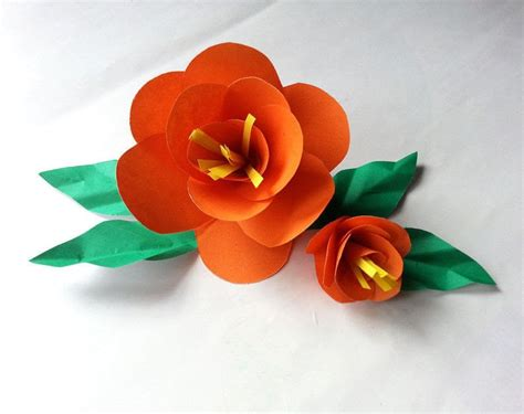 Flower Papercraft - diy easy paper flower 183 how to make a flowers rosettes