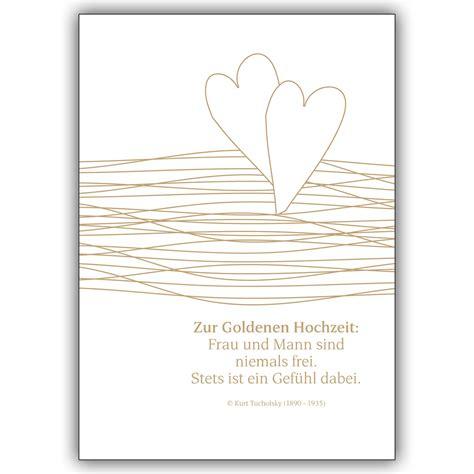 Goldene Hochzeit Karte by Liebevolle Gl 252 Ckwunschkarte Zur Goldenen Hochzeit