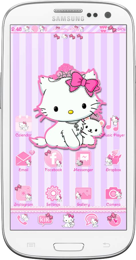 go launcher themes kitty pretty droid themes charmmy kitty go launcher theme