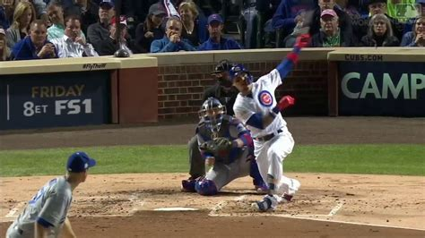 javier baez hit two home run postseason 2018 4