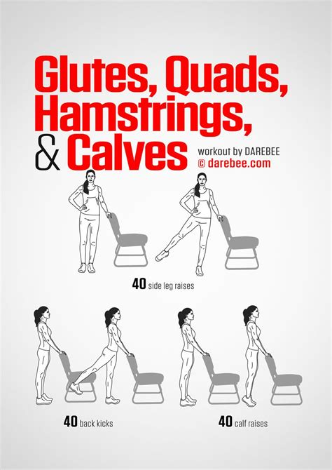 glutes quads hamstrings calves workout by darebee