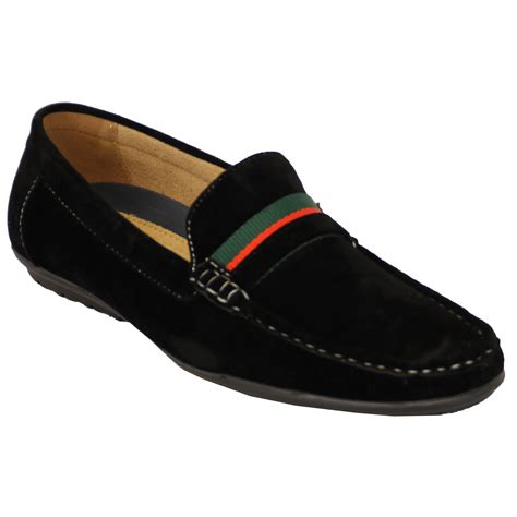 Exclusive Slip On Ribbon Slip On Loafers Black Hitam mens moccasins suede look shoes driving loafers slip on boat ribbon italian black ccc009 uk 7