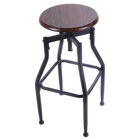 vintage bar stools ebay vintage bar stool wood metal design top height adjustable