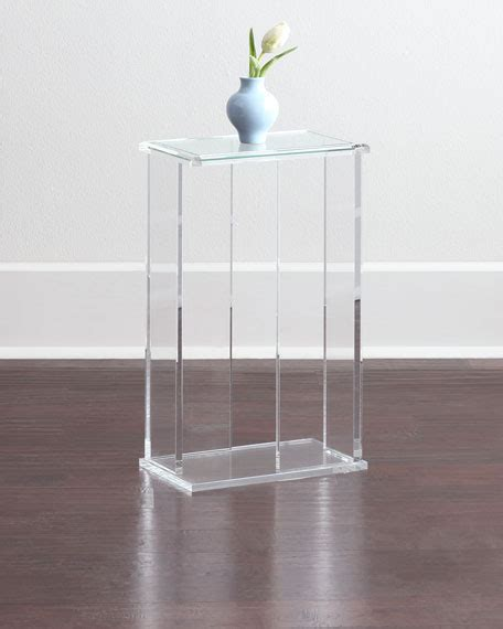 acrylic accent table interlude home chase acrylic end table