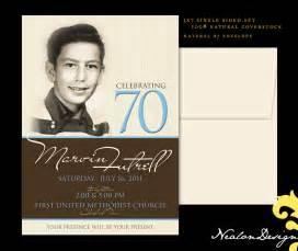 Free Printable 70th Birthday Invitations Templates by Nealon Design 70th Birthday Invitation