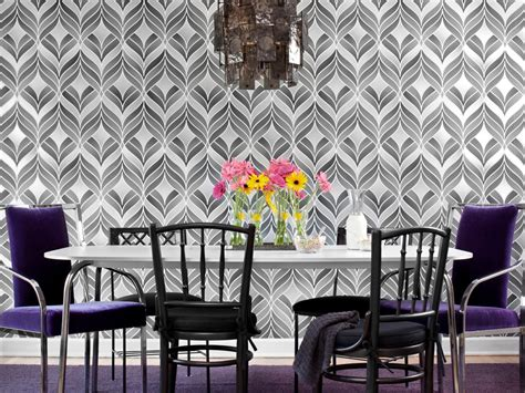 wallpaper for room create a bold dining room with wallpaper hgtv