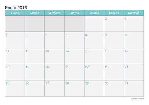 I Calendario Net 2016 Calendario Enero 2016 Para Imprimir Icalendario Net