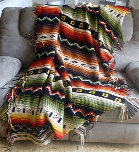 Decke Indianer Muster by H 228 Keldecke Ethno Aztec Stricken Und H 228 Keln