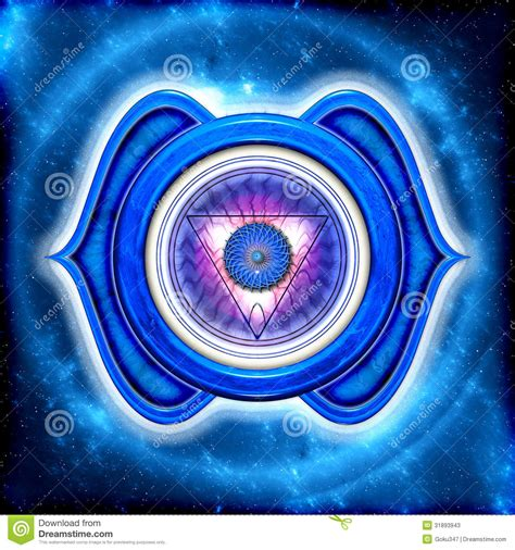 the third eye chakra stock photos image 31893943