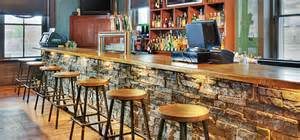 stone veneer installation for your bar or restaurant