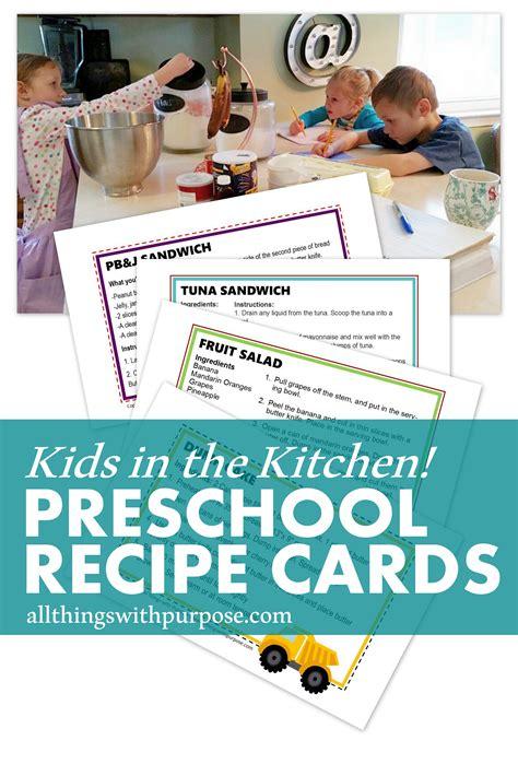 printable preschool recipes free preschool recipe cards