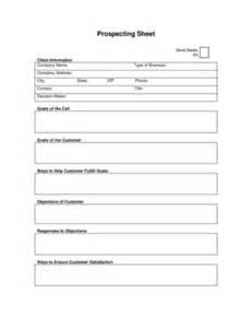 fillable online prospecting sheet entrepreneur fax email