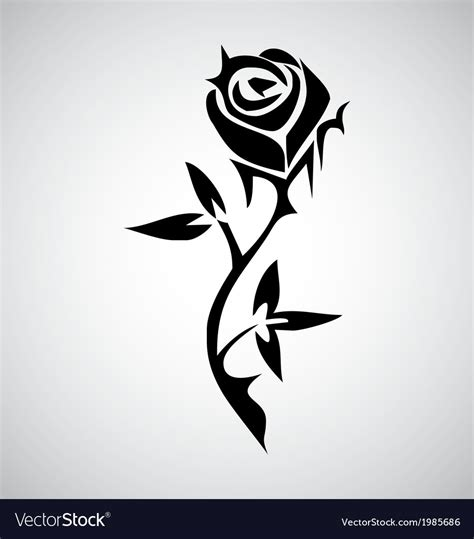 tribal black rose tattoo tribal royalty free vector image vectorstock