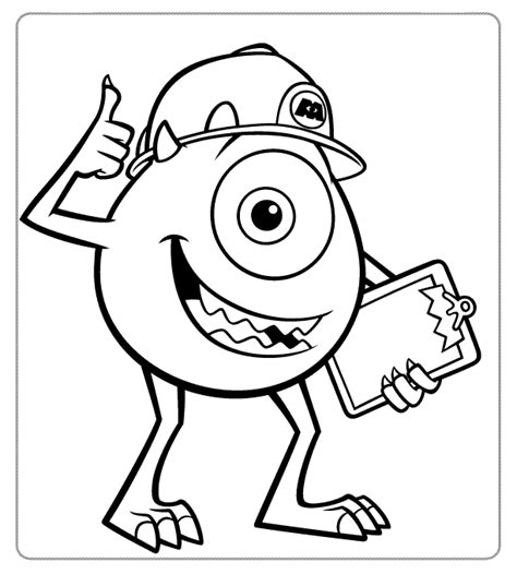 printable coloring pages monsters inc monsters inc coloring pages 02 jake pinterest