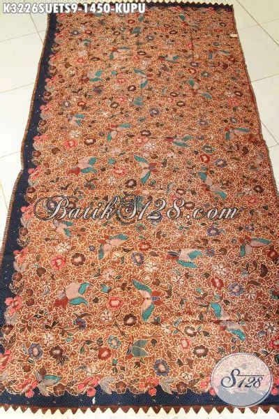 Kain Batik 72 Premium Soga 1 batik kain premium bahan batik mewah untuk